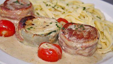 Photo of Schweinefilet mit zucchini in gorgonzola-sahne-sauce
