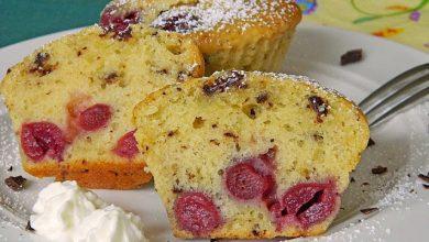 Photo of Stracciatella – Kirsch Muffins