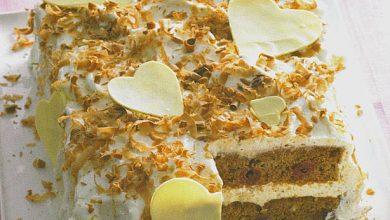 Photo of Schokoladen – Weichsel – Torte mit weißen Herzen