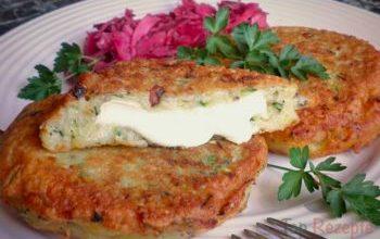 Photo of Kartoffel-Zucchini-Puffer Mit Camembert Gefüllt