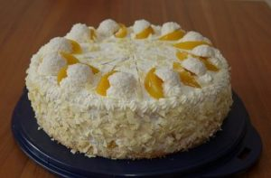 Photo of Pfirsich – Raffaello – Torte
