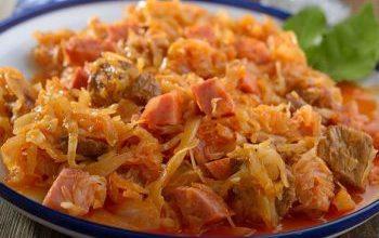 Photo of Bigos. Polnische Sauerkraut Speise